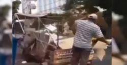 Catador adapta cadeirinhas para carregar filhos pequenos em carrinho de recicláveis, em Goiânia; vídeo